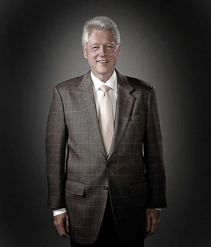 celebrity photography of bill clinton in chicago