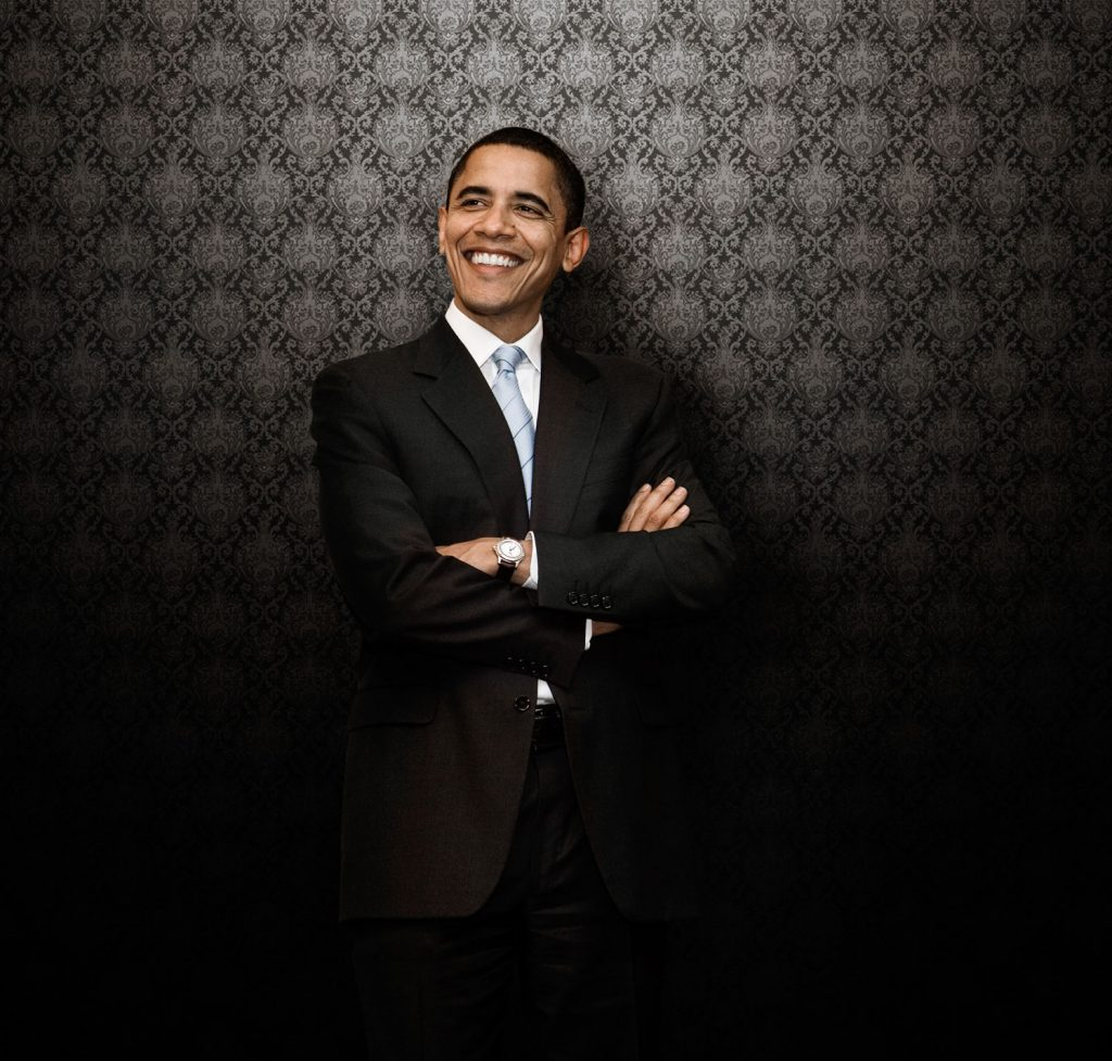 celebrity photography of president obama in chicago