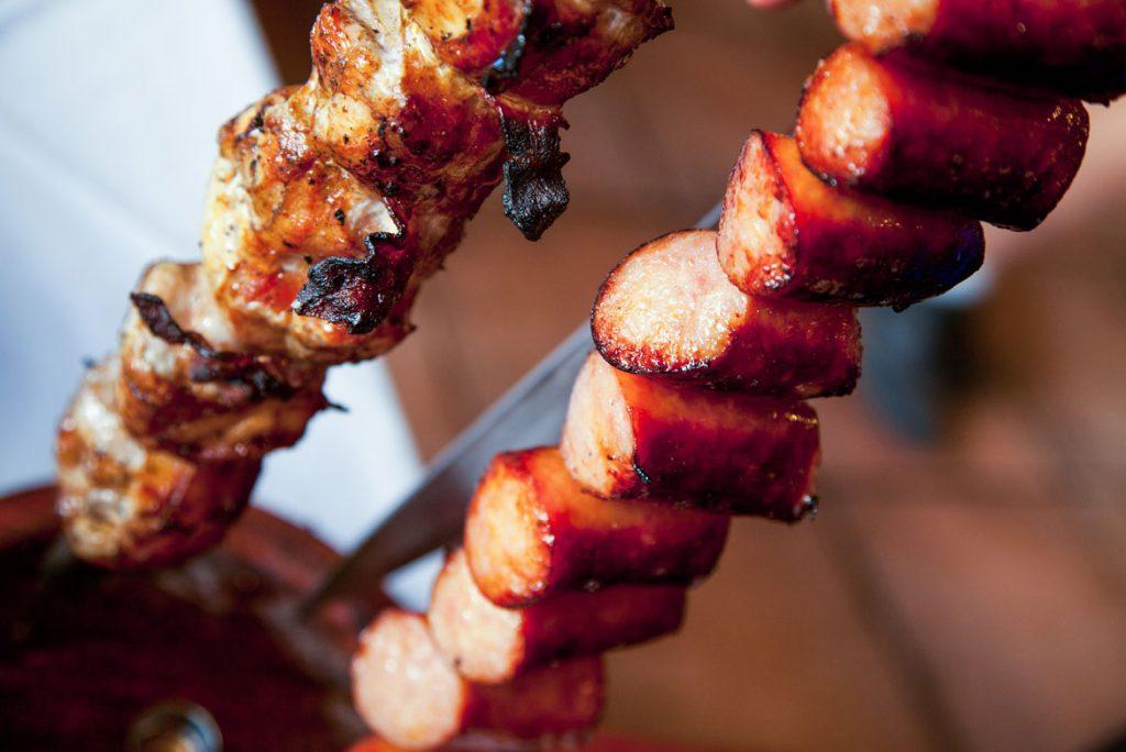 closeup images of food at picanha churrascaria