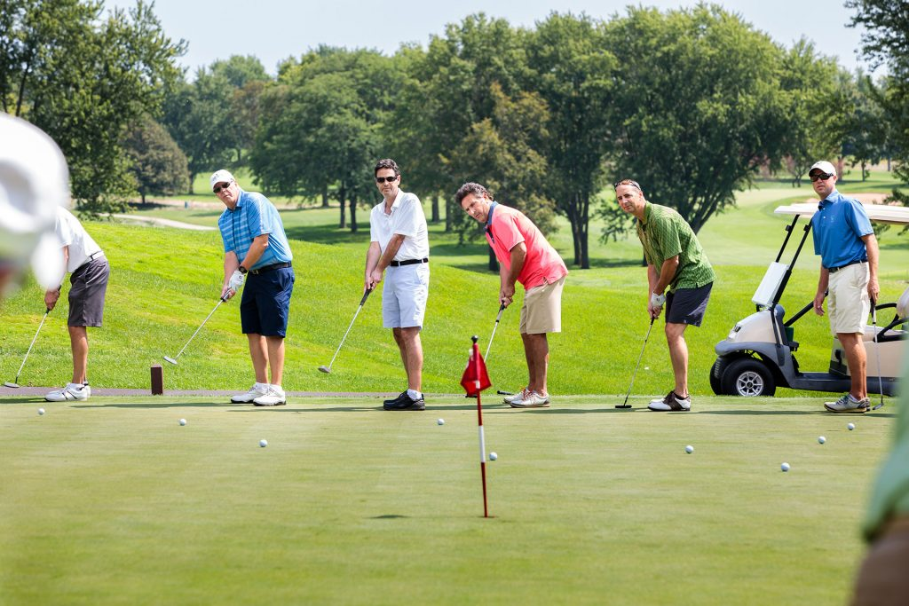 company outing photography of golf outing