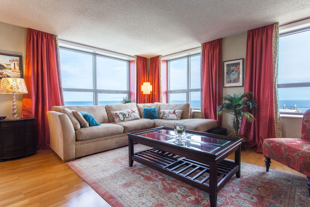 condo photo with navy pier in backround
