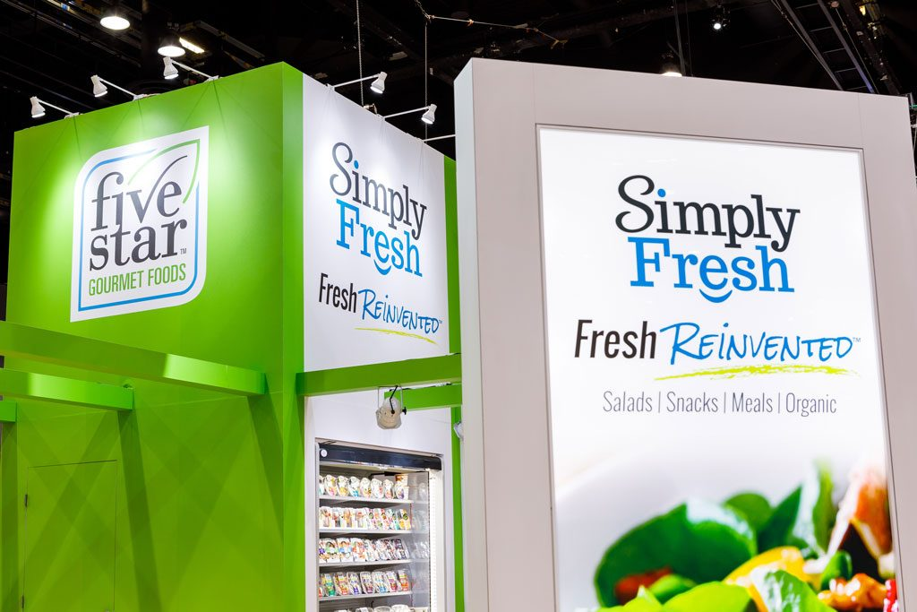 convention image of simply fresh booth in chicago