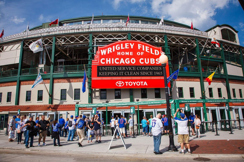 destination management photography of wrigley field event