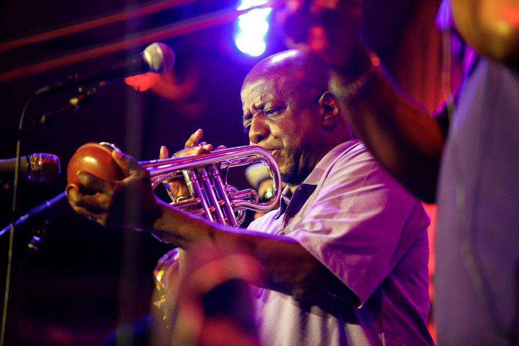 image of man playing trumpet at chicago festival