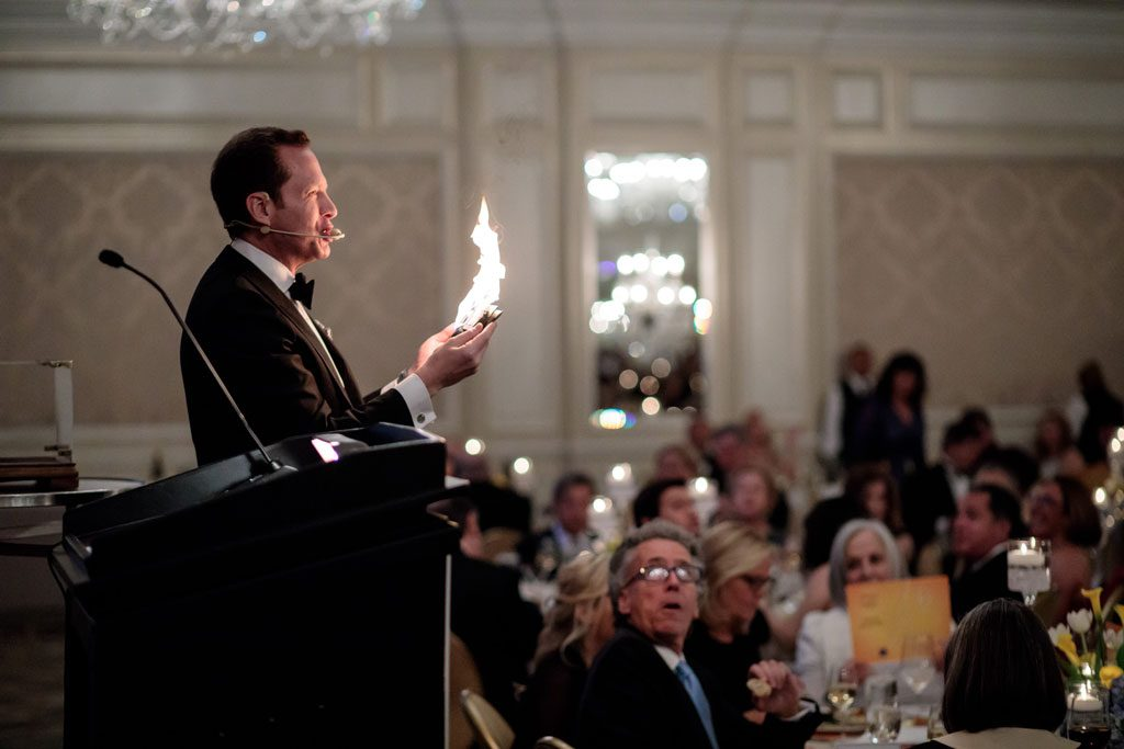 image of man presenting at chicago gala