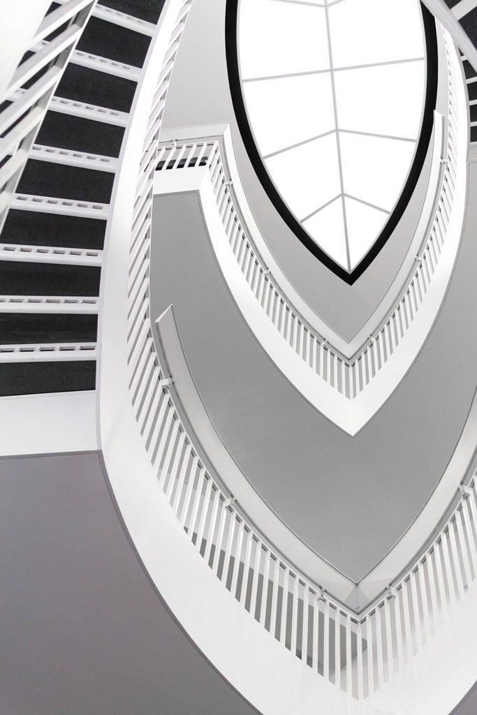 image of winding stairway