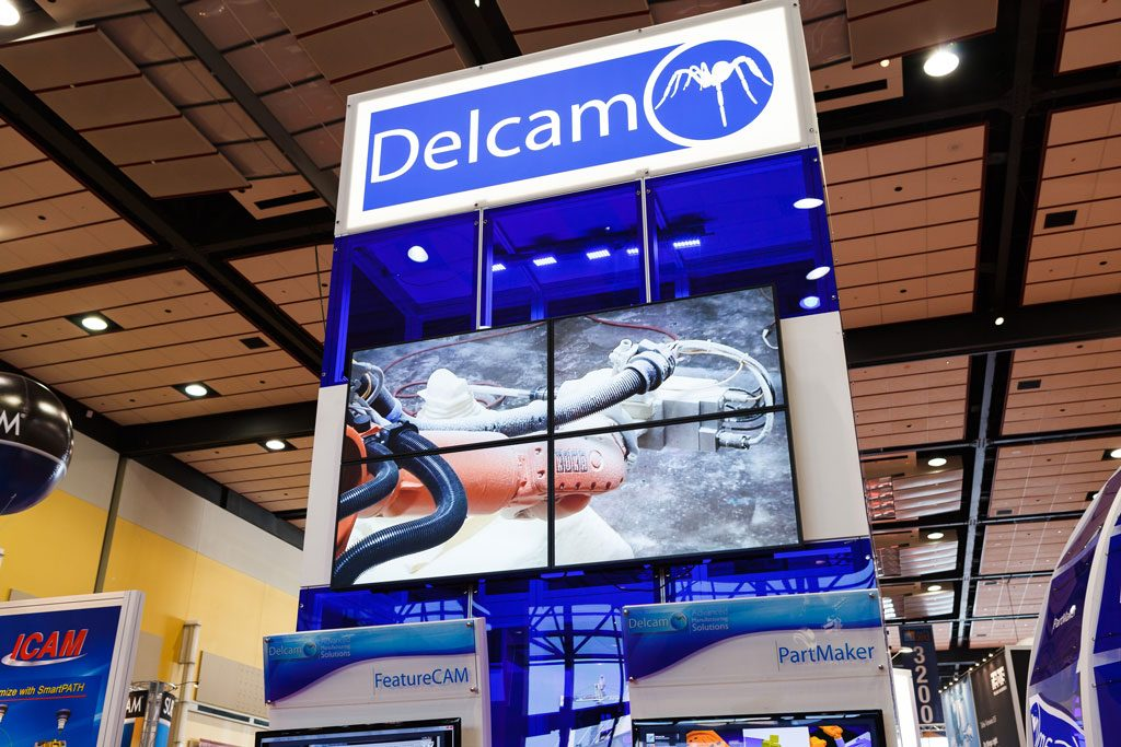 photo of delcam booth at convention