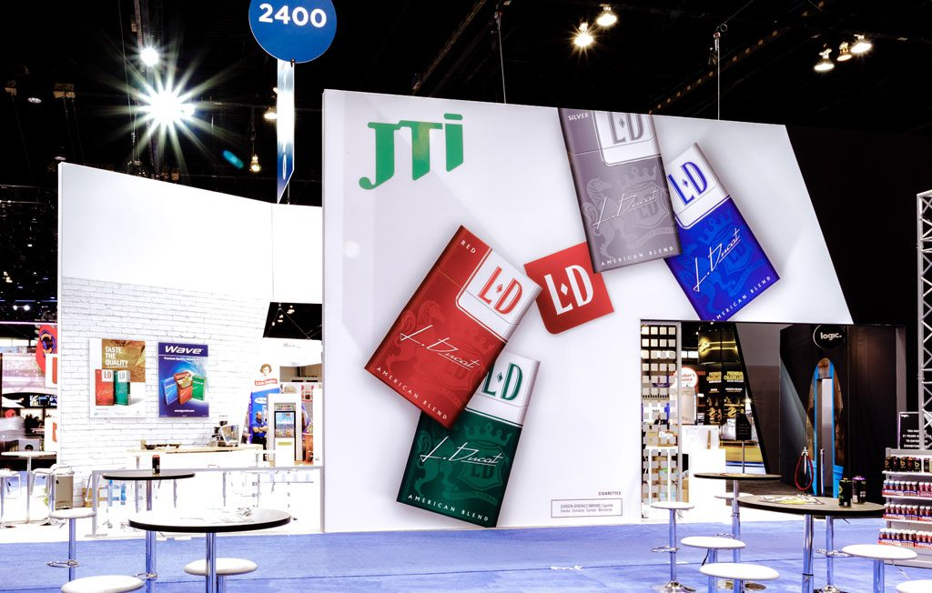 photo of trade show booth in chicago