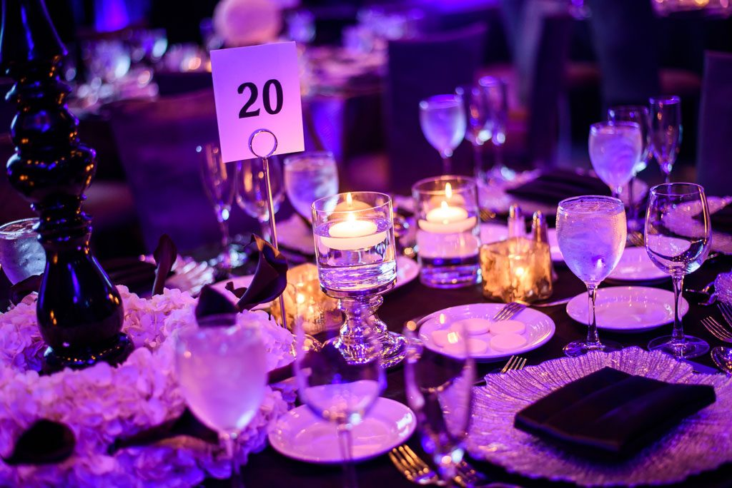 photography of table at chicago gala