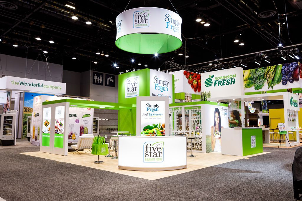 professional convention photography of trade show booth