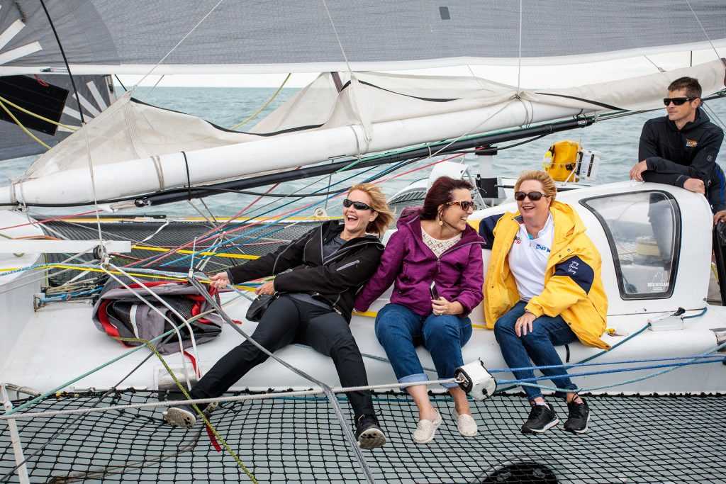 professional corporate outing photo of sailing event