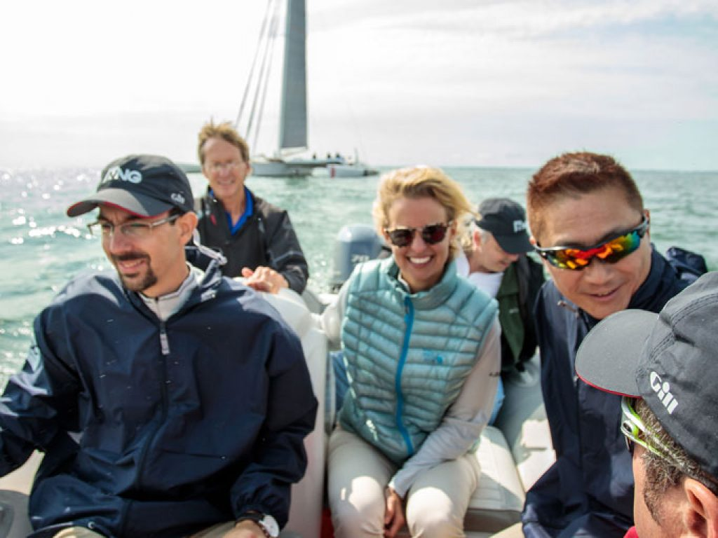 professional corporate outing photography of sailing event
