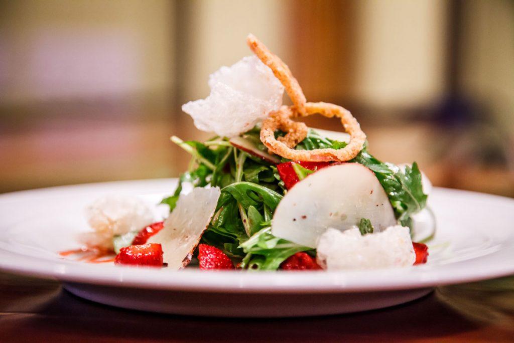 professional food photography of salad