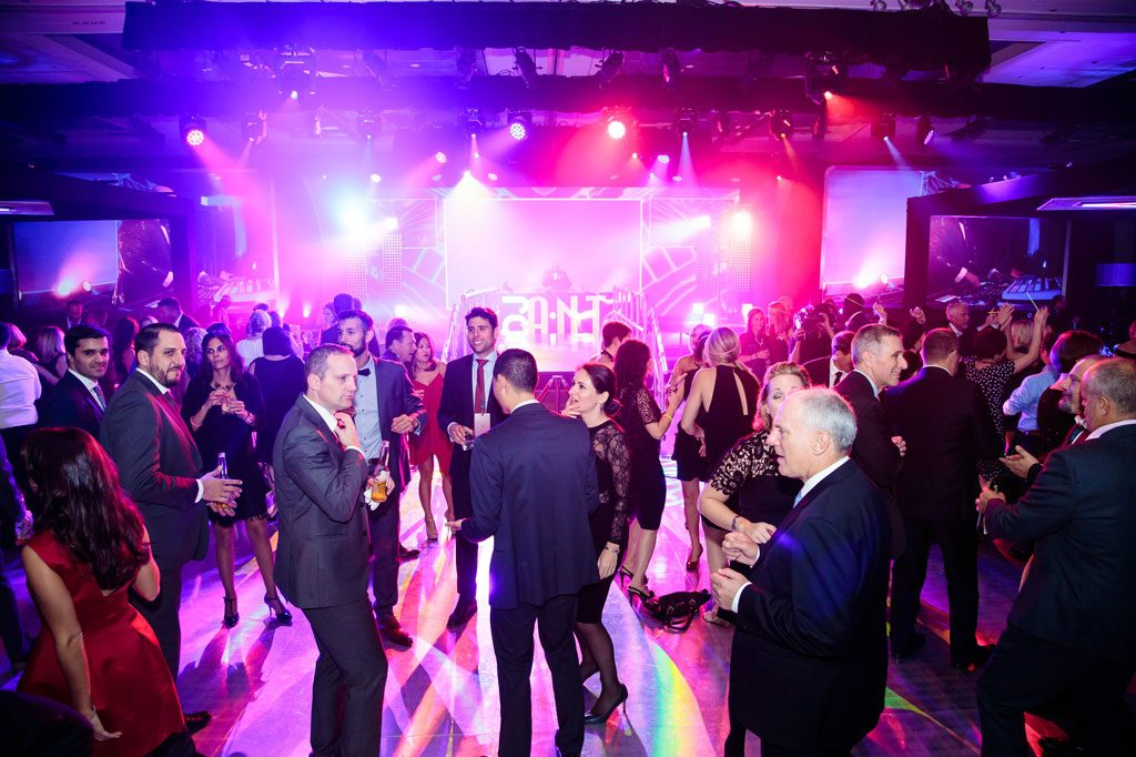 professional holiday party photography of dance floor