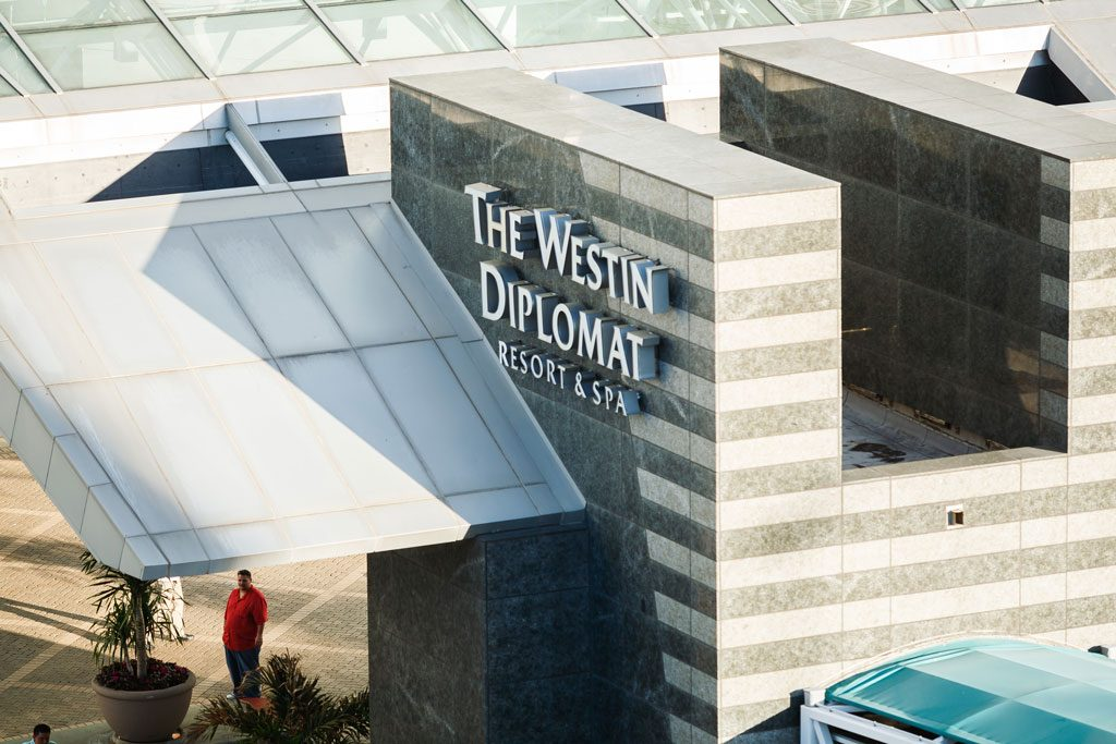 professional hotel photography of the westin