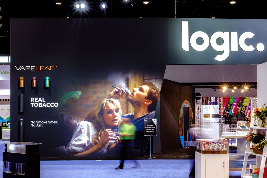 professional image of chicago trade show booth