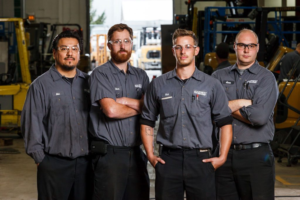 professional manufacturing photography of employees