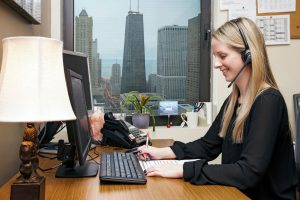 professional office lifestyle photo of woman working