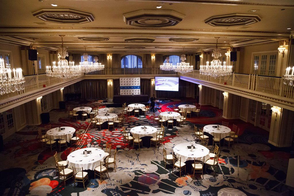 professional photo of chicago hotel ballroom