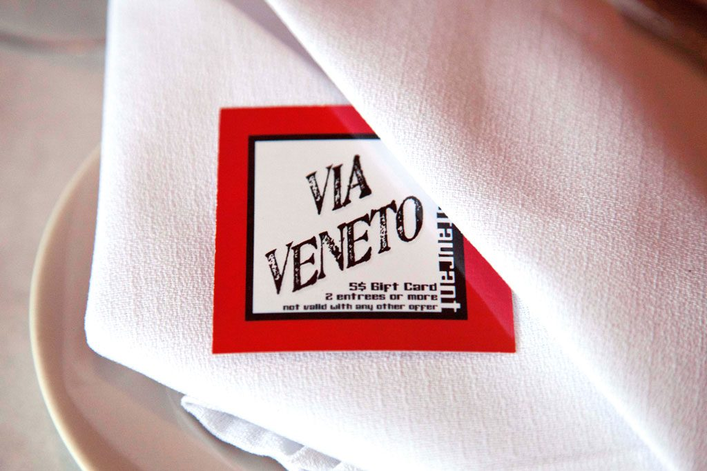 restaurant photography of via veneto restaurant