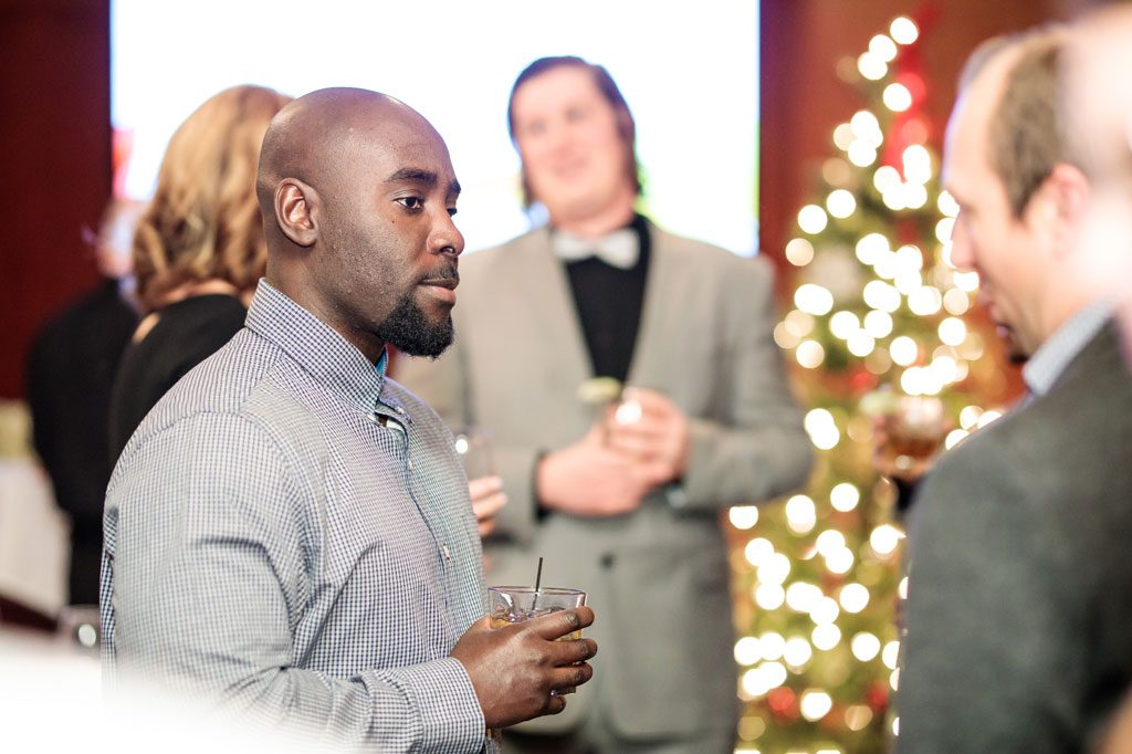 special event photography chicago men speaking